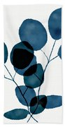 Indigo Eucalyptus 3- Art By Linda Woods Beach Sheet