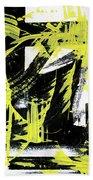 Industrial Abstract Painting II Beach Towel