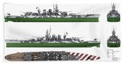Italian Battleship Roma Beach Towel