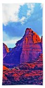 Jack's Canyon Village Of Oak Creek Arizona Sunset Red Rocks Blue Cloudy Sky 3152019 5080  Beach Towel