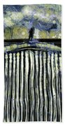 Jaguar Car Van Gogh Beach Towel