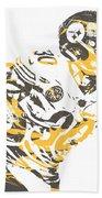 James Connor Pittsburgh Steelers Pixel Art 3 Beach Towel
