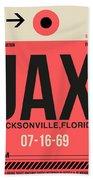 Jax Jacksonville Luggage Tag I Beach Sheet