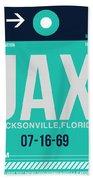 Jax Jacksonville Luggage Tag II Beach Sheet