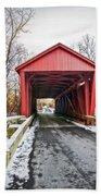 Jericho Covered Bridge Snow Beach Sheet