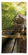 John Cable Mill In Cades Cove Historic Area In The Smoky Mountains Beach Sheet