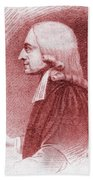 John Wesley, Anglican Minister And Christian Theologian Beach Sheet