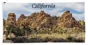Joshua Tree National Park Box Canyon, California Beach Towel