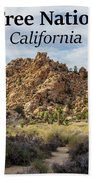 Joshua Tree National Park Box Canyon, California Beach Towel