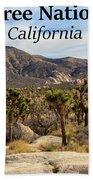 Joshua Tree National Park Valley, California Beach Sheet