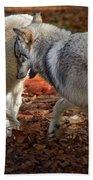 Joyful Wolves Beach Towel