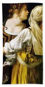 Judith And Her Maidservant 1613 Beach Towel