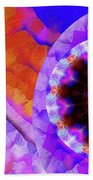 Kaleidoscope Moon For Children Gone Too Soon Number - 5 Flame And Flower  Beach Sheet