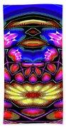 Kaleidoscopic Krystal Ball Beach Sheet