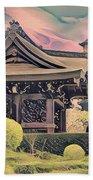 Kanagawa - The Japanese Garden Beach Towel