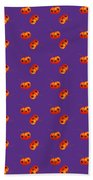 Kawaii Pumpkin Purple Beach Towel