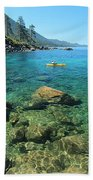 Kayaker's Bliss  Beach Towel by Sean Sarsfield