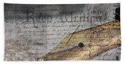 Keep Writing Beach Towel