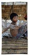 Keeping Cool In Cambodia Beach Towel
