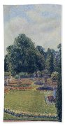 Kew Gardens - Path Between The Pond And The Palm House, 1892 Beach Towel