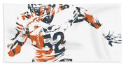 Khalil Mack Chicago Bears Pixel Art 30 Beach Towel