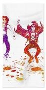 Kiss Band Watercolor Splatter 01 Beach Towel