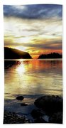 Kiss Of Sunset Beach Towel