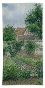 Kitchen Garden, Overcast Morning, Eragny, 1891  Beach Towel
