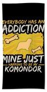 Komondor Funny Dog Addiction Beach Towel
