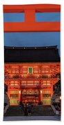 Kyoto Torii Gate Beach Sheet