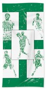 Kyrie Irving Boston Celtics Panel Pixel Art 1 Beach Towel
