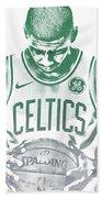 Kyrie Irving Boston Celtics Water Color Pixel Art 30 Beach Towel