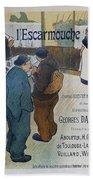 L Escarmouche, 1893 French Vintage Poster Beach Sheet