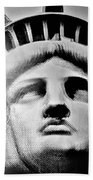 Lady Liberty In Black And White1 Beach Towel