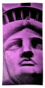 Lady Liberty In Pink Beach Towel