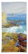 Laguna Rocks Low Tide 1916 Beach Towel