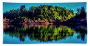 Lake Double Reflection Beach Towel