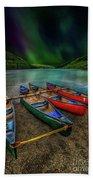 lake Geirionydd Canoes Beach Towel