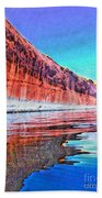 Lake Powell With Cliff Reflections Beach Sheet
