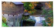 Lanterman's Mill In Fall Beach Sheet