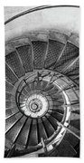 Lblack And White View Of Spiral Stairs Inside The Arch De Triump Beach Sheet