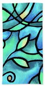 Leaves And Curves Art Nouveau Style II Beach Towel