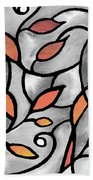 Leaves And Curves Art Nouveau Style Xii Beach Towel