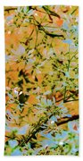 Leaves And Trees Beach Towel