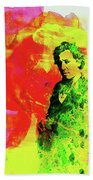 Legendary Bruce Watercolor Beach Towel