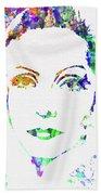 Legendary Ingrid Bergman Watercolor Beach Sheet