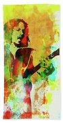 Legendary Kirk Hammett Watercolor Beach Towel