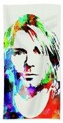 Legendary Kurt Cobain Watercolor Beach Towel