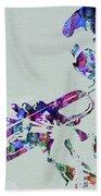 Legendary Miles Davis Watercolor Beach Towel