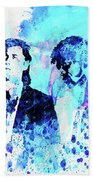 Legendary Pulp Fiction Watercolor Beach Towel